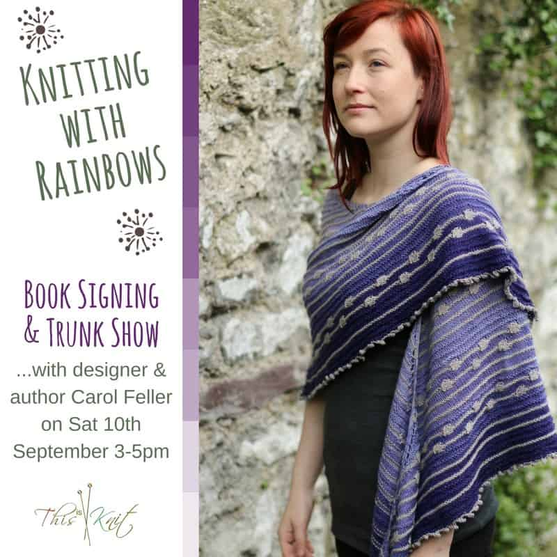 Knitting with Rainbows Signing