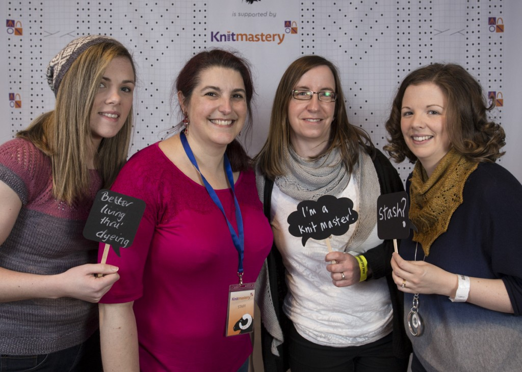 EYF Photobooth with Yvonne of Dublin Dye Company, Kersti of Knitmastery and Lisa and Jenny from This is Knit