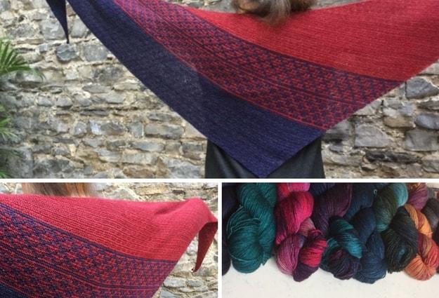 Emiliana by Lisa Hannes knit in Malabrigo Mechita