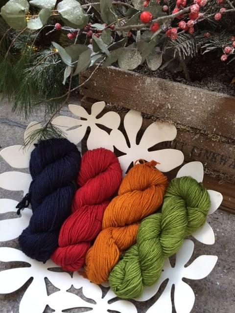 Malabrigo Rios suggested colour combination for Om Shawl