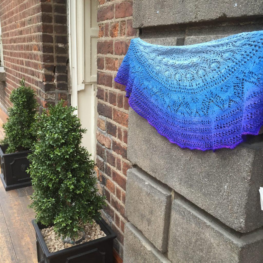 Watering the Garden knit from a Burlington Sock Blank by Townhouse Yarns