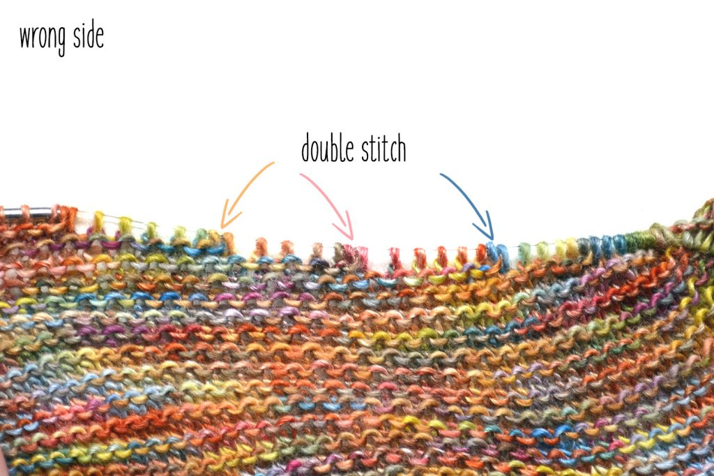 Knitting Double Stitch Short Rows Technique
