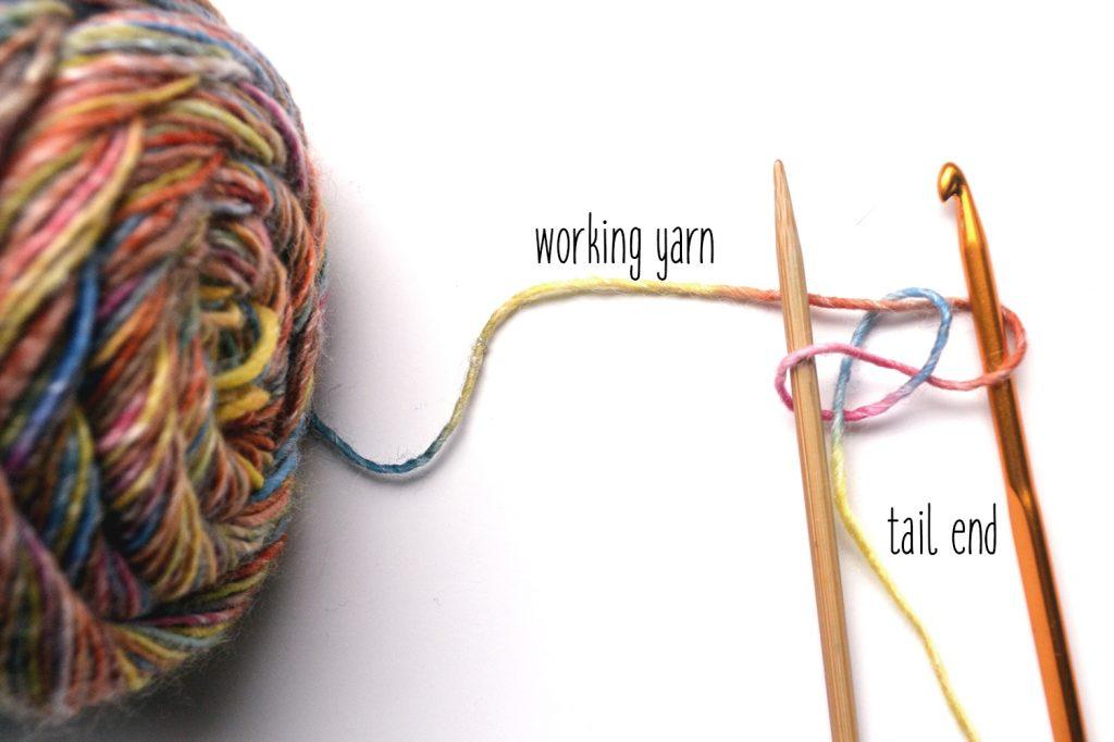 Pfeilraupe Crochet Cast On