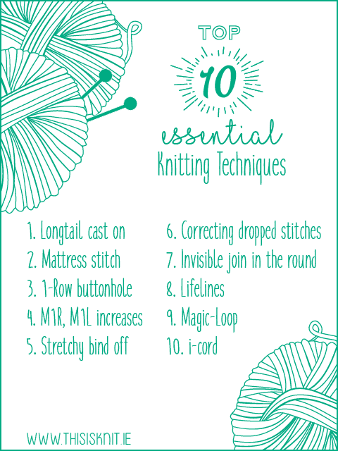Top 10 knitting techniques