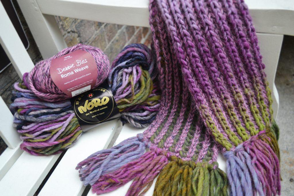 Brioche Burren Scarf Free Knitting Pattern