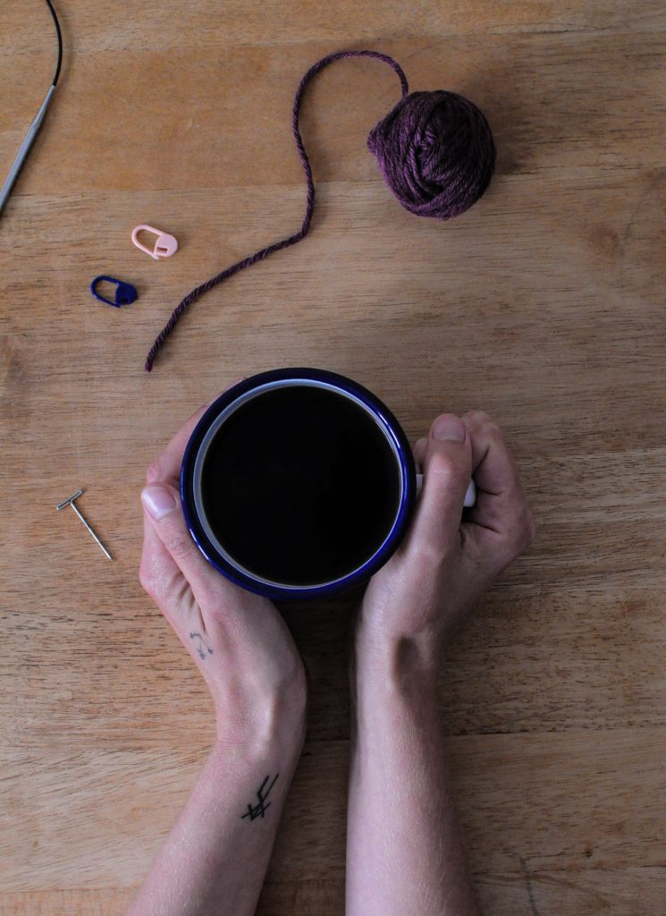 Simple coffee and knitting plans by Kate from A Playful Day