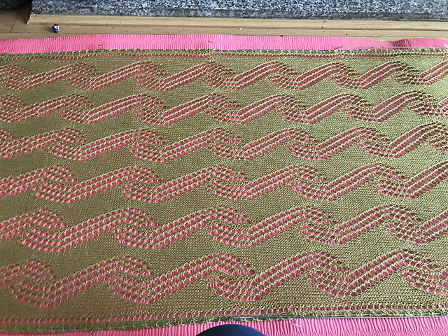 Leher Shawl Blocking