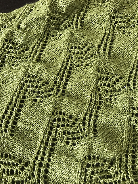 Leher Shawl in Progress